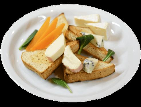4種のチーズとガーリックトースト