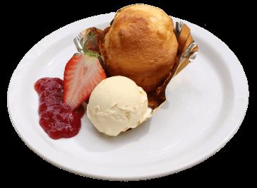 カップケーキ&バニラアイス